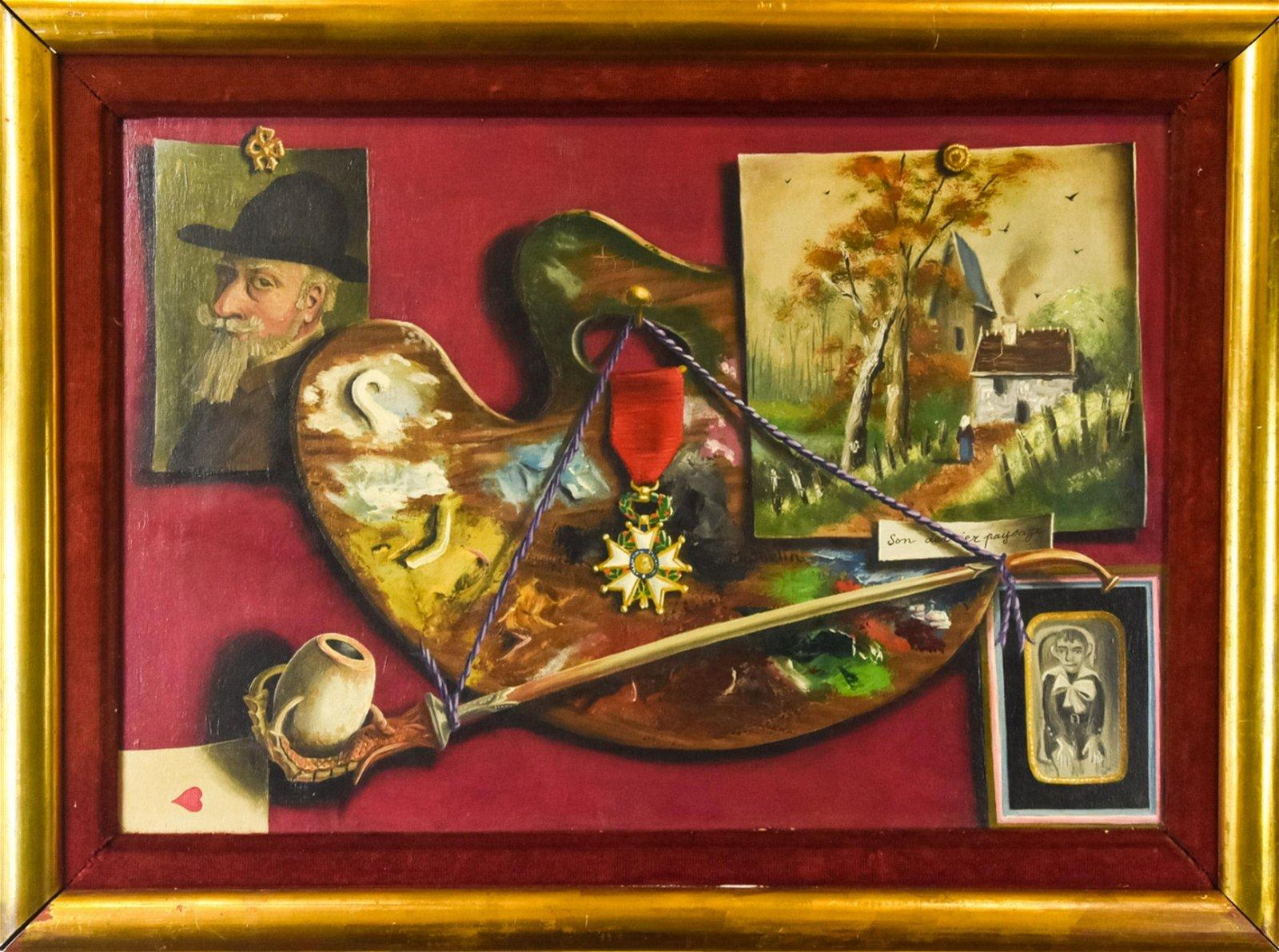 Lucian Mathelin Framed Oil Still Life Painting
