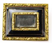 Antique 19th C Georgian Black Enamel Mourning Pin