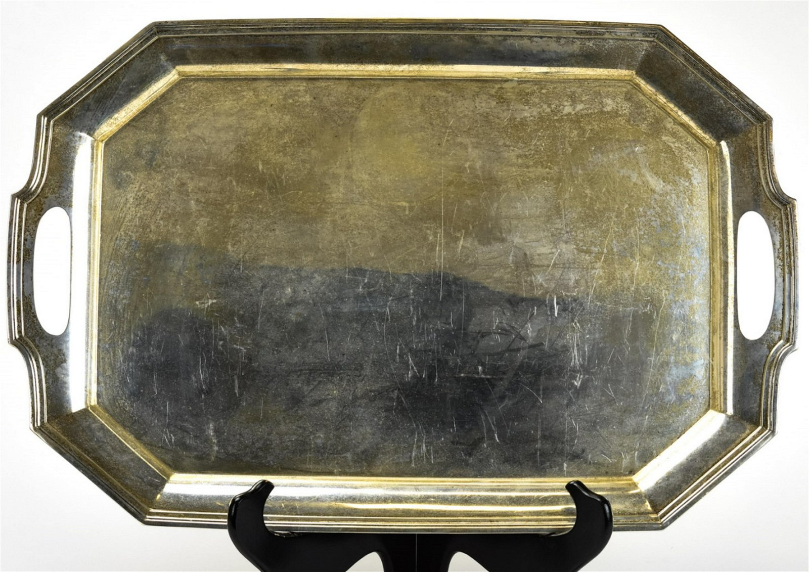 Antique Wallace Sterling Silver Serving Tray Aug 24 2019 Greenwich Auction In Ct