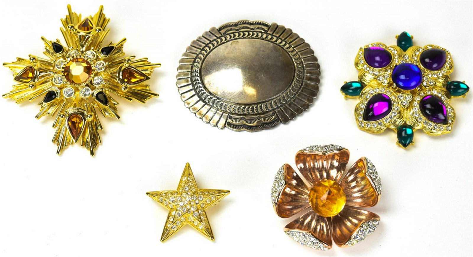 Lot of Brooches Including Sterling, Joan Rivers