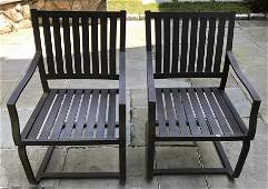Pair Outdoor Metal Chairs