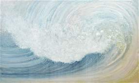 "Rosamond Berg ""Soft Wave"" Painting on Canvas 1990"