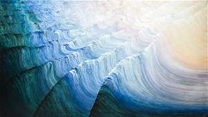 "Rosamond Berg ""Summer Waves"" Painting on Canvas"