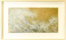 """Rosamond Berg """"Sudden Wave"""" Framed Painting"""