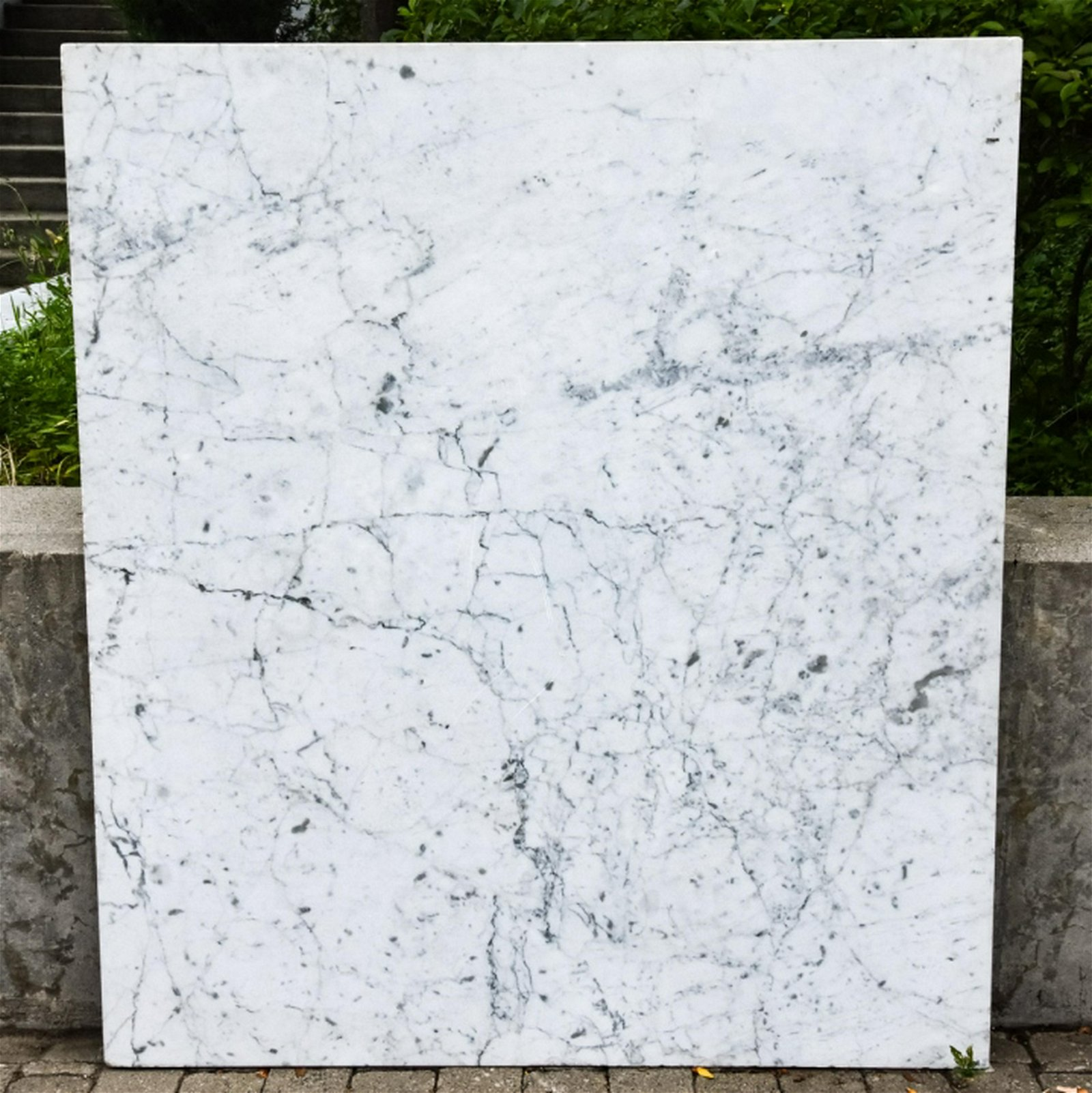 Salvaged Polished Marble Table or Counter Top