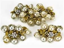 Vintage Miriam Haskell Jewelry Suite