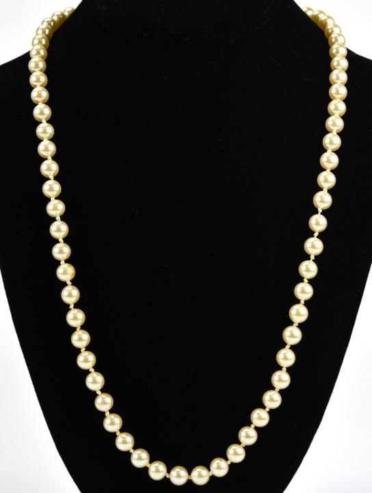 Vintage Miriam Haskell Hand Knotted Pearl Necklace