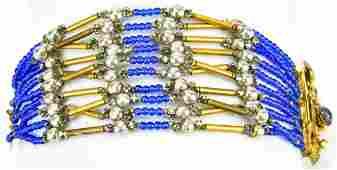 Vintage Miriam Haskell 1960s Multi Strand Bracelet