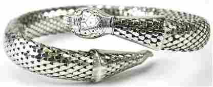 Vintage 1960s Whiting & Davis Snake Cuff Bracelet