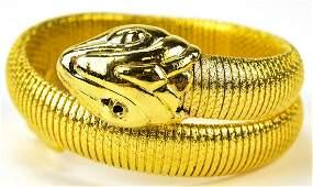 Vintage 1960s Whiting & Davis Style Snake Bracelet