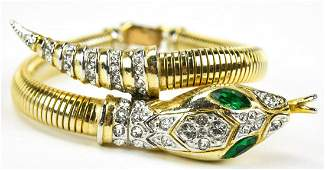 Vintage 1950s Coro Craft Snake Bracelet