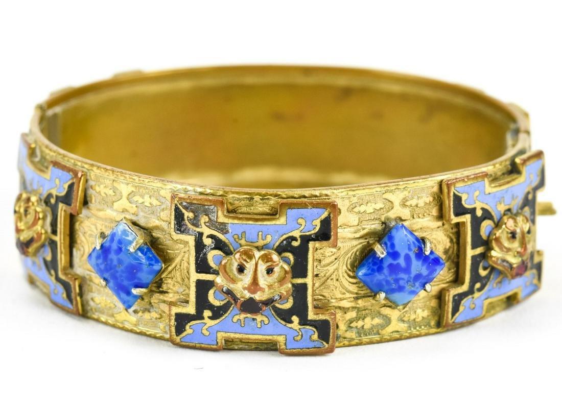 Vintage 1930s Mayan Style Bangle Bracelet