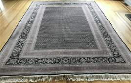Hand Knotted Silk  Wool Oriental  Persian Carpet