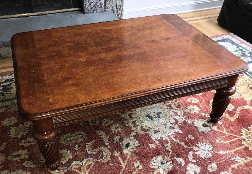 Contemporary Carved Coffee Table by Hickory White