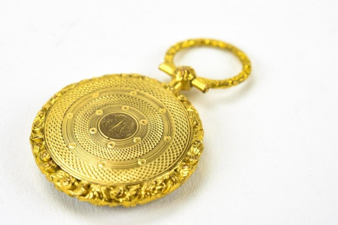 Antique 19th C Gold Filled Mourning Locket