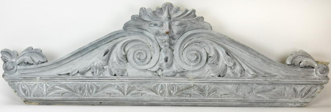 Antique 19th C Hand Carved Gargoyle Plaque
