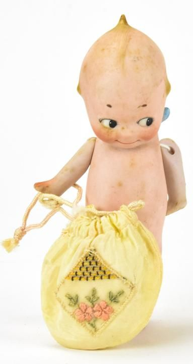 Antique Bisque Rose O'neill Kewpie Doll