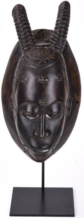 Hand Carved Wood African Tribal Mask