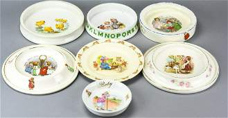 Collection Antique Porcelain Baby + Child Dishes
