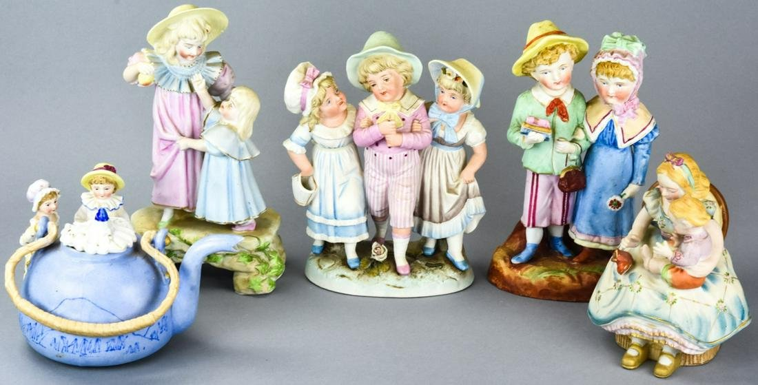Heubach Style German Porcelain Bisque Figurines