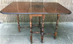 William & Mary Style Drop Leaf Table