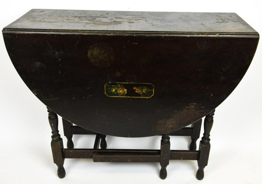 Antique William & Mary Style Gate Leg Table