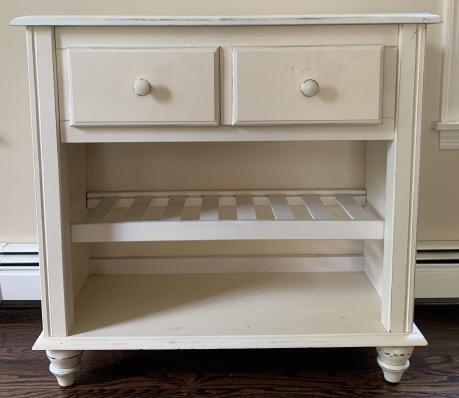 Contemporary White Console Cabinet / Table