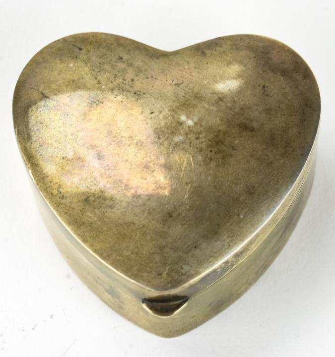 Vintage Tiffany Sterling Silver Heart Form Box