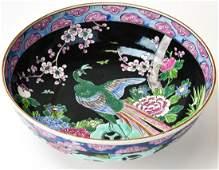 Chinese Famille Noir Porcelain Bowl - Signed