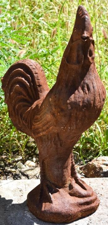 Cast Iron Rooster Garden Figurine