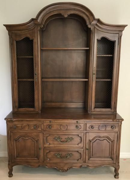 French Country Provincial China Cabinet, French Country China Cabinet