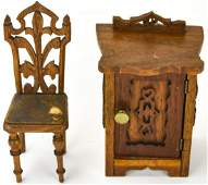 Antique 19th Century Doll Size Furniture
