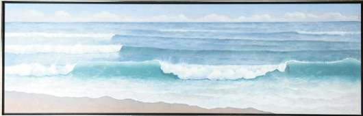 """Rosamond Berg """"Waves of Southern Water"""" Painting"""