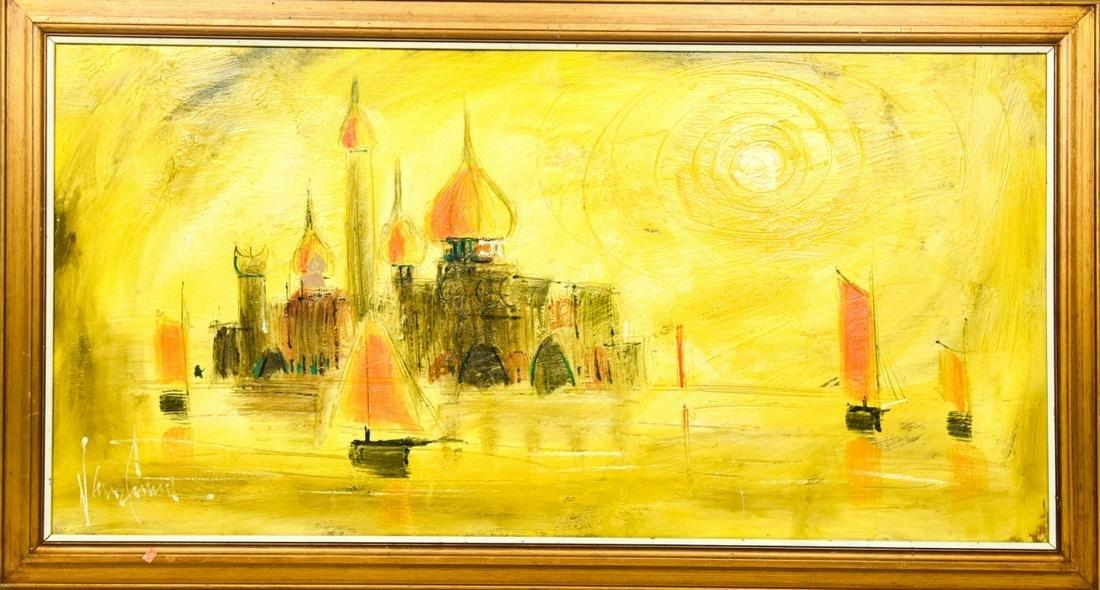Mid Century Van Gaard Middle Eastern Painting
