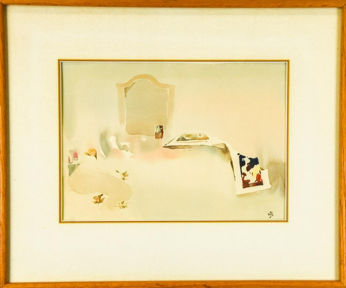 Werner Jurgen Signed & Titled Watercolor Painting
