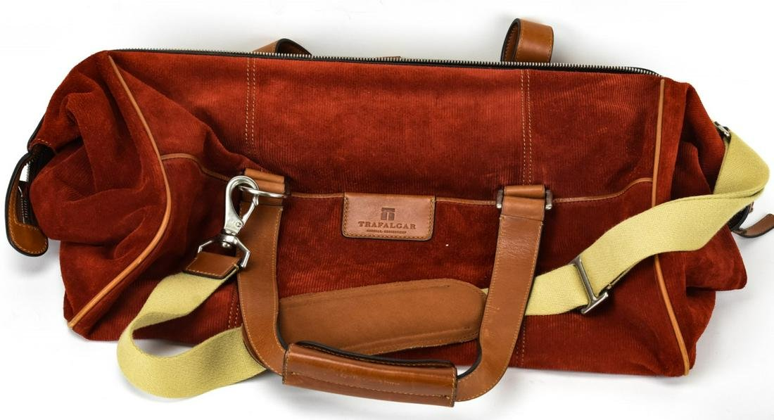 Trafalgar Corduroy & Leather Duffel Bag