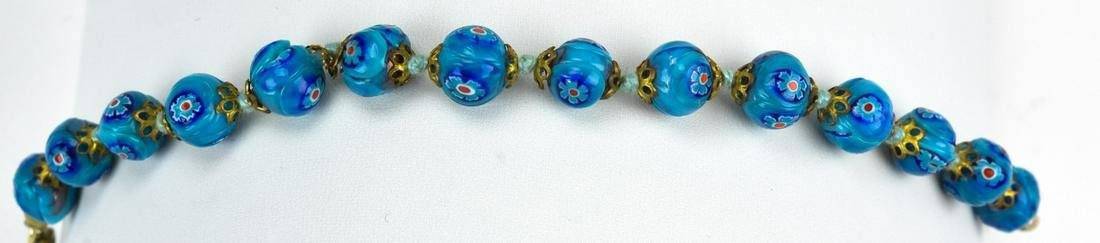 Circa 1960s Murano Art Glass Bead Bracelet