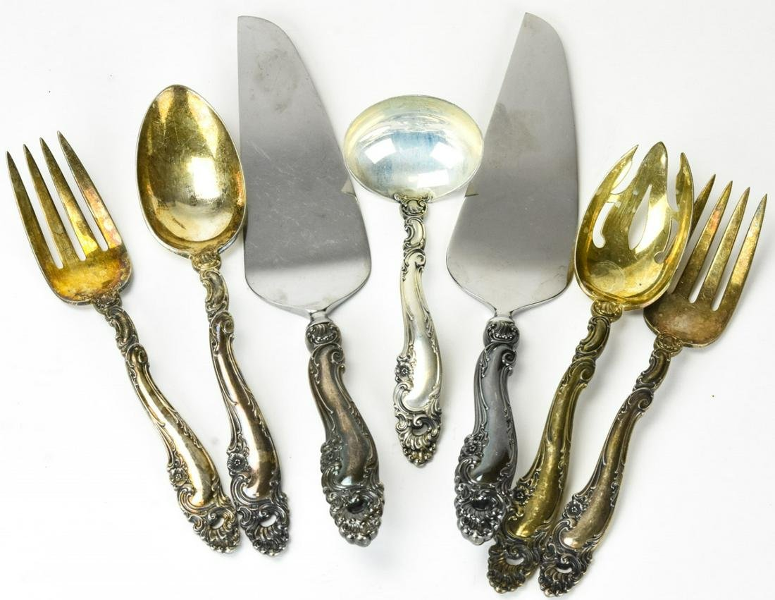 Group Ornate Sterling Silver Gorham Serving Items