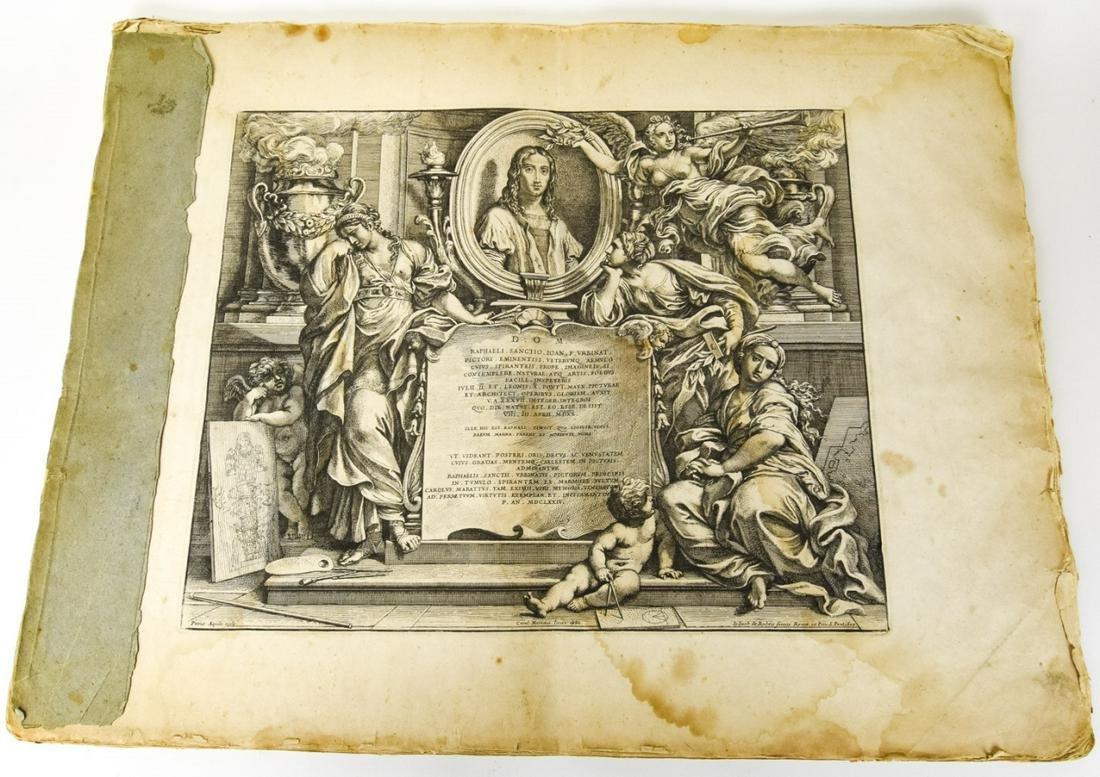 Large Antique Bound Folio Petrus Aquila Engravings