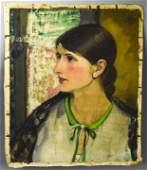 Leon Kroll Oil Painting Portrait of a Woman
