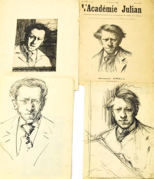 Leon Kroll Archival Collection W Original Drawings