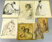 Collection Leon Kroll Pencil & Charcoal Sketches