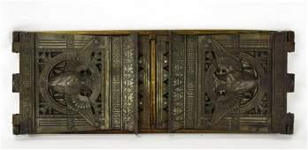 Antique Art Nouveau Cast Judd Owl Bookends  Rack
