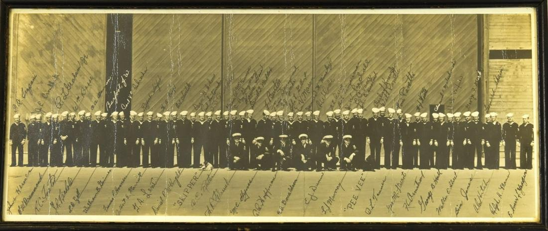 Antique WWII Era Navy Photograph w Identifications