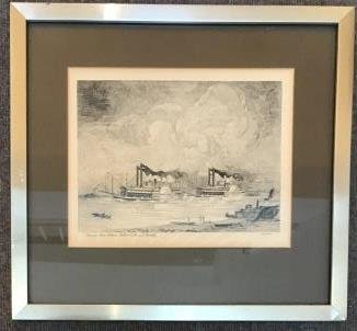 Steamboat Print - Robert E Lee & Nactchez