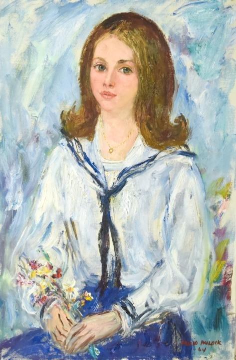 David Paildik Mid Century Portrait Oil Painting
