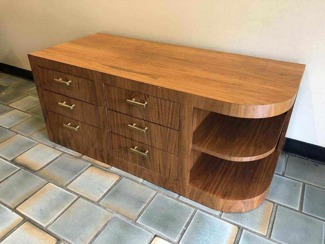 Contemporary Art Deco Style Curved End Console