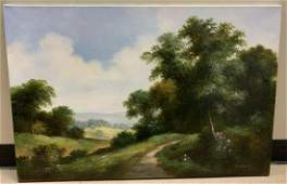 Signed Oil Painting of a Landscape Scene