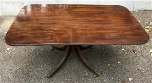 Antique English 19th C Sheraton Dining Table