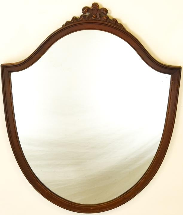 Antique Federal Style Shield Form Mirror